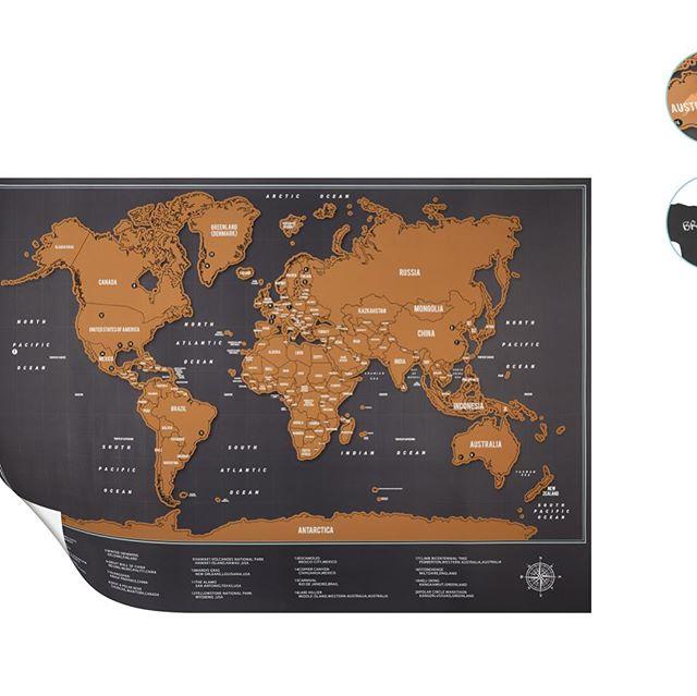 United Office Scratch Off World Map Brand New Craig Kidd Ltd