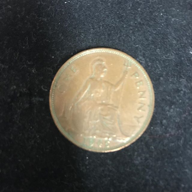 1945 UK One Penny in medium condition